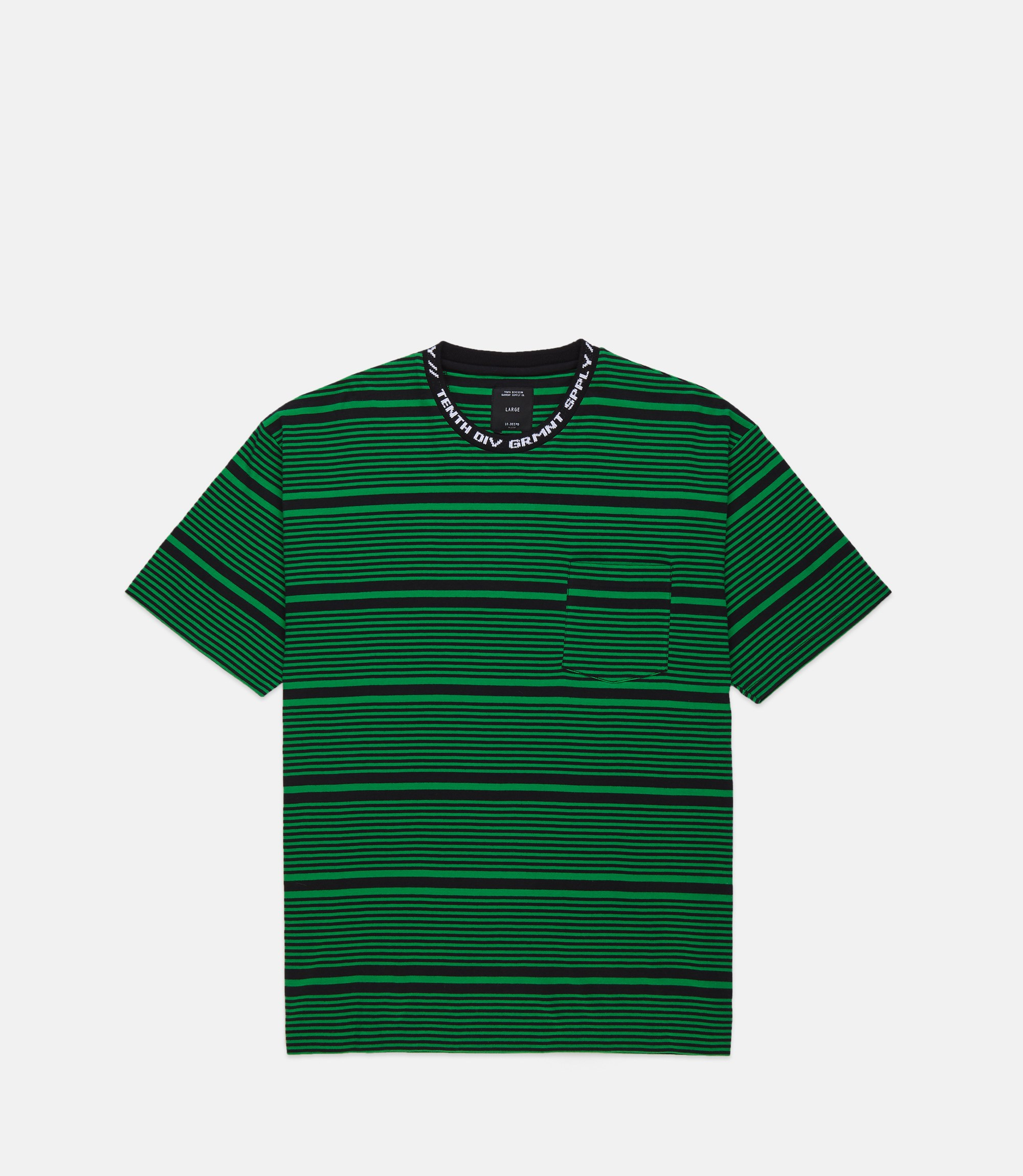 182TD4208_FOREIGNER-YD-STRIPED-TEE_GREEN_FRONT