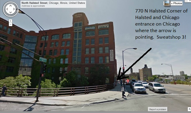 770 n halsted entrance on Chicago