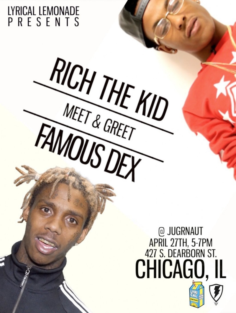 Rich the kid and famous dex meet and greet 42716 jugrnaut can rich the kid and famous dex meet and greet 42716 jugrnaut cant stop wont stop chicago jugrnaut kristyandbryce Choice Image