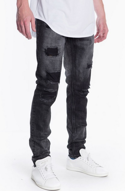 crysp young ripped denim black