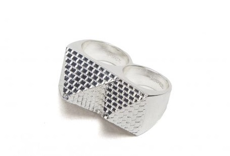 double pyramid ring