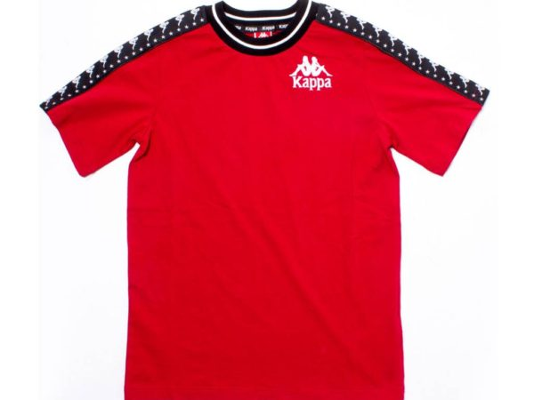 kappa-authentic-anchen-tape-tee-red-black