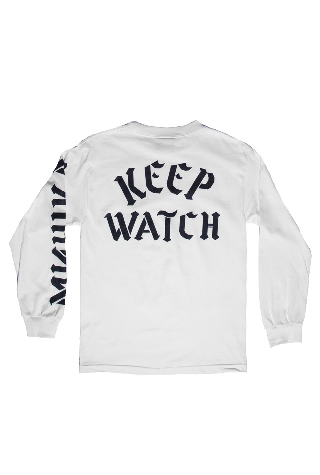 keep watch long sleeve white back