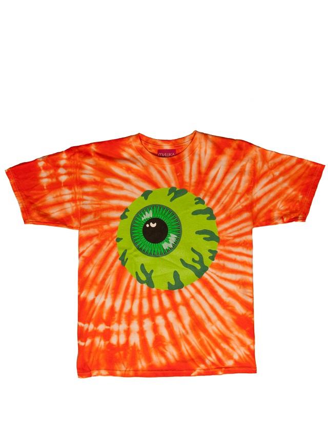 keep watch tie dye orange tee