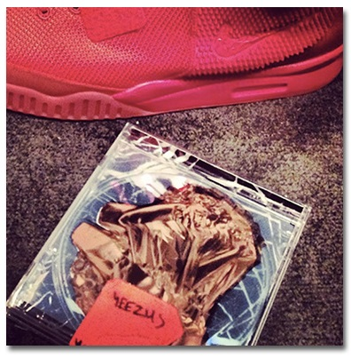 sports shoes 046ab 52390 KANYE SHOWS TEASER PIC OF YEEZUS ALBUM COVER AND NIKE AIR YEEZY 2