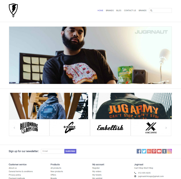 SHOP OUR NEW ECOMM STORE - Jugrnaut | Can't Stop Won't Stop
