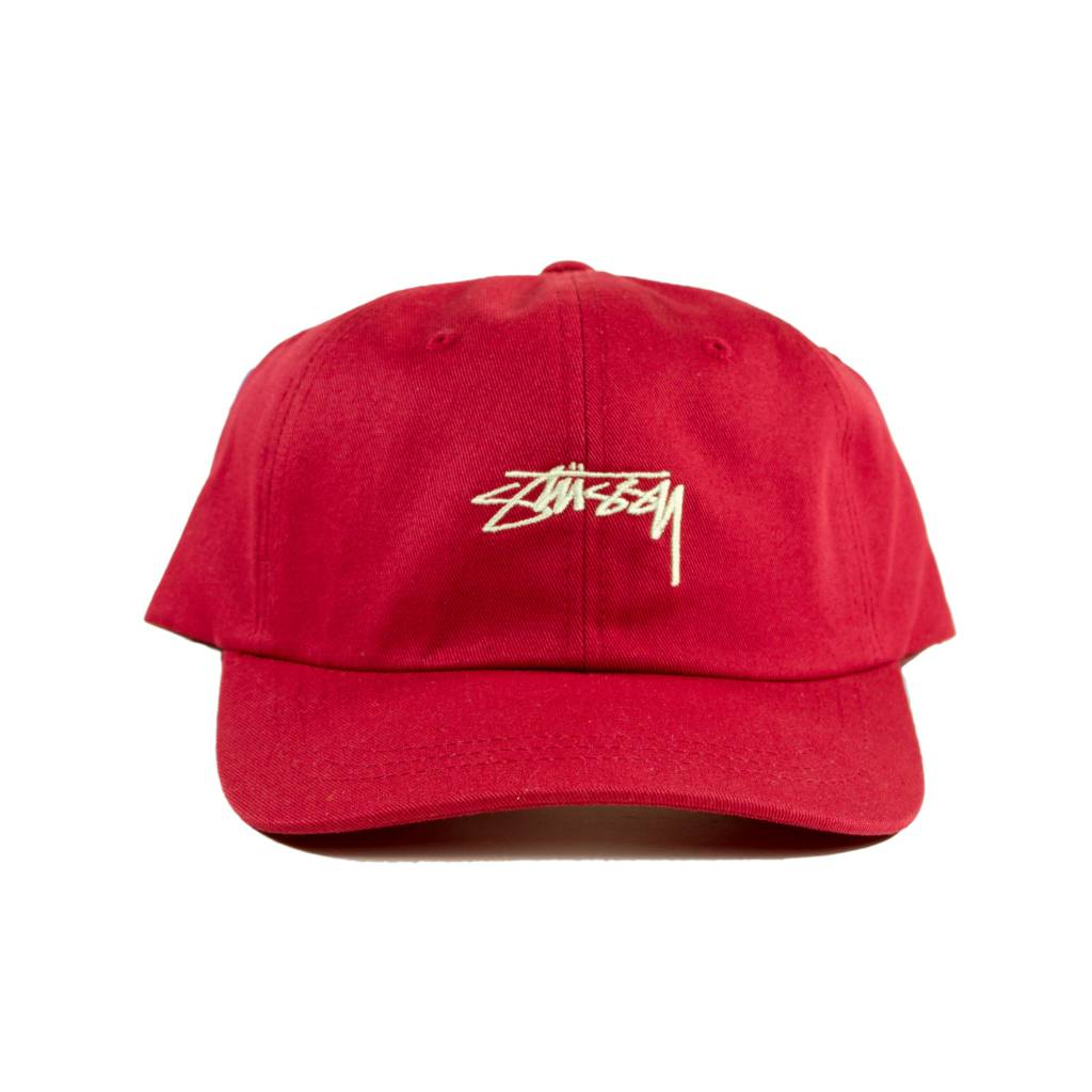 stussy-stussy-smooth-low-cap-red